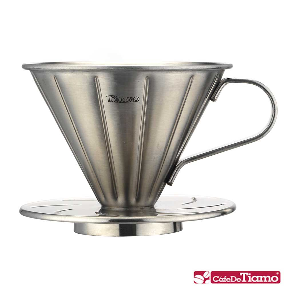 Tiamo V01不鏽鋼圓錐咖啡濾杯組(HG5033)