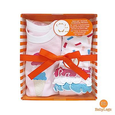 美國 BabyLegs 新生兒有機棉禮盒組 (泡泡冰淇淋)