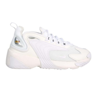 NIKE WMNS ZOOM 2K 女休閒運動鞋-老爹鞋 復古 皮革 慢跑 AO0354101 米白