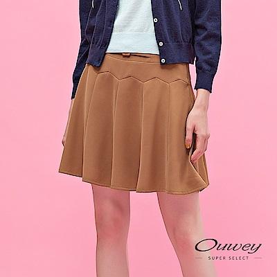 OUWEY歐薇 不規則造型剪接A字褲裙(可)