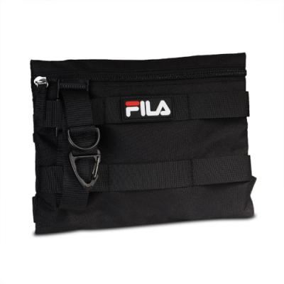 Fila 斜背包 Workwear Shoulder Bag 斐樂 小包 外出 輕便 附小零錢包 黑 白 BMV3007BK