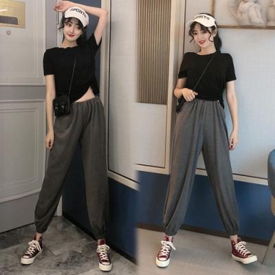 【韓國K.W.】(預購)好感印象美式束口褲套裝-2色