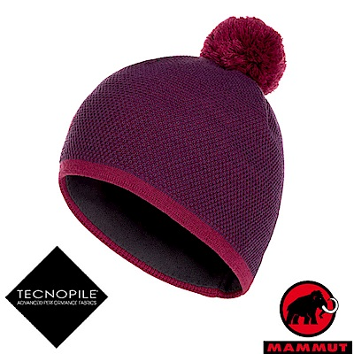MAMMUT 長毛象 Snow Beanie 超輕彈性針織保暖帽_葡萄紫