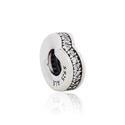 Pandora 潘朵拉 閃耀鑲鋯環形許願骨 純銀墜飾 串珠