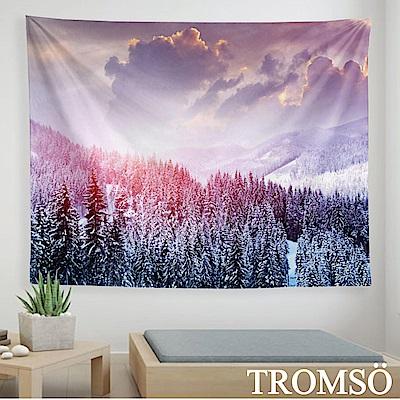 TROMSO 北歐時尚生活掛毯-D308紫艷森林