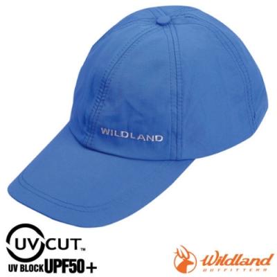 WildLand 新款 中性抗UV透氣棒球帽.防晒遮陽帽.鴨舌帽.休閒帽_地中海藍