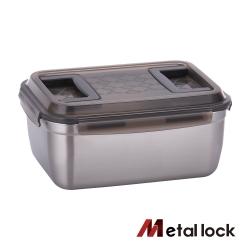 韓國Metal lock手提大容量不鏽鋼保鮮盒5.5L.露營野餐不銹鋼環保收納大容量