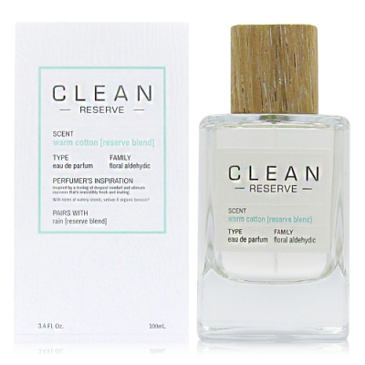 CLEAN RESERVE Warm Cotton 溫暖棉花淡香精 100ml