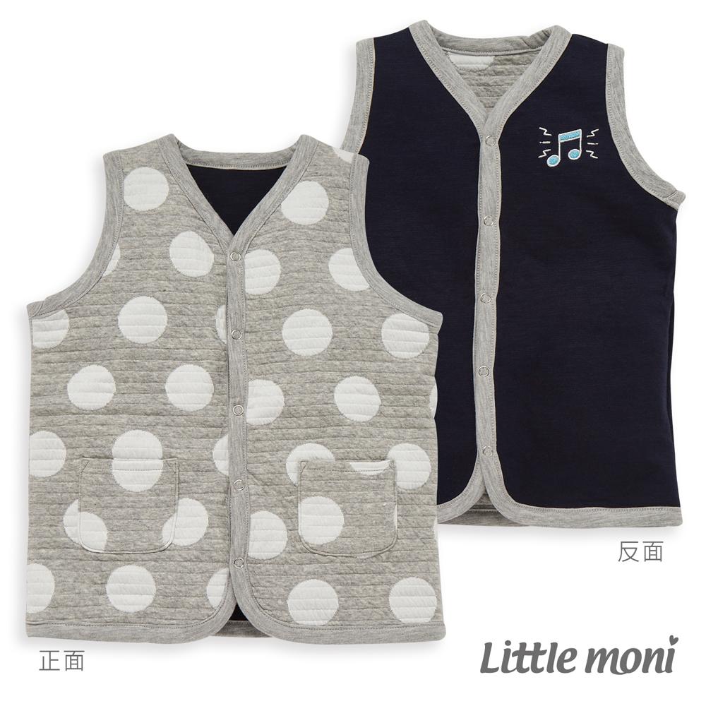Little moni 雙面穿點點鋪棉背心(共2色)