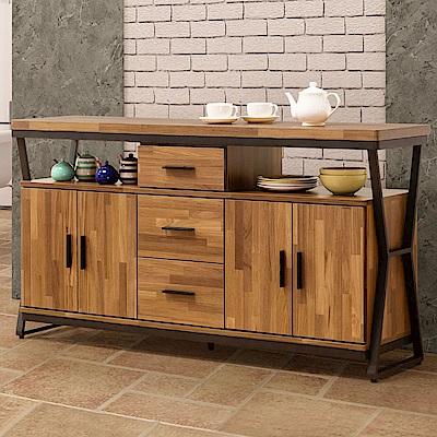 Homelike 德爾工業風5尺餐櫃-150x40x82cm