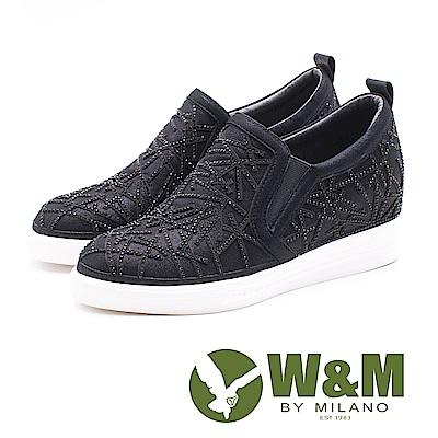 W&M 雪花內增高休閒鞋 女鞋 - 黑 (另有銀)