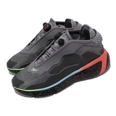 Reebok 休閒鞋 Model F 運動 避震 男鞋 海外限定 蜂巢科技中底 潑墨 穿搭 灰 黑 G55533