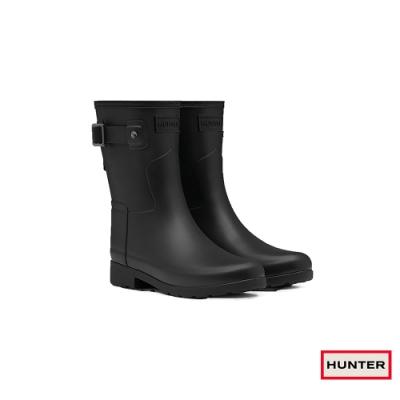 HUNTER - 女鞋-Refined霧面短靴 - 黑