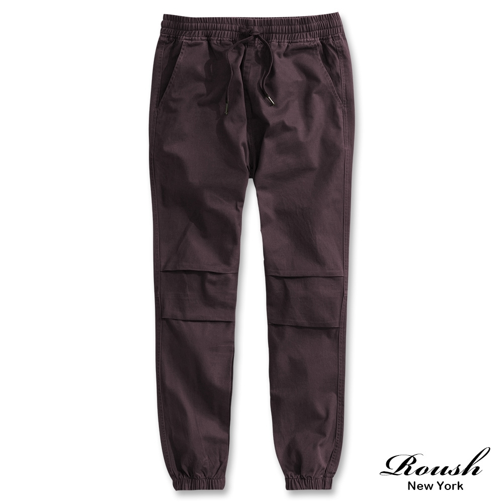 Roush 美式基本款水洗縮口褲(4色)
