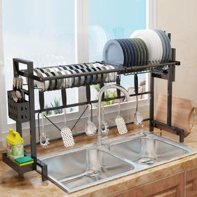 ANDYMAY2 可調伸縮加固碗盤瀝水置物架