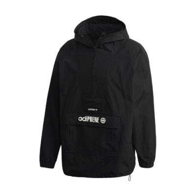 adidas T恤 adiPRENE Windbreaker 女款 愛迪達 半開襟 前翻蓋口袋 穿搭 連帽 黑 白 GD5999