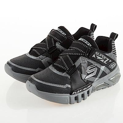 SKECHERS 男童系列 燈鞋 FLEX GLOW - 90543LBKCC