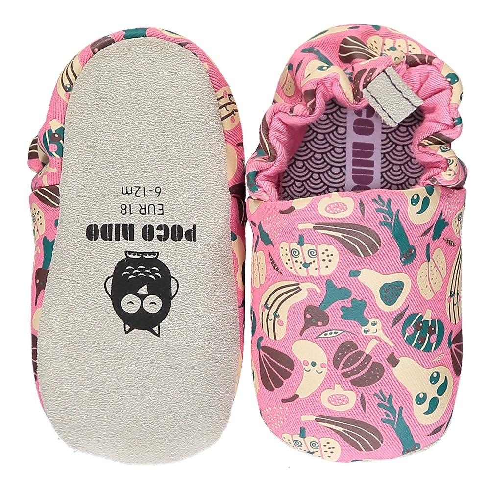英國 POCONIDO 手工嬰兒鞋 (開心農場 - 甜心粉)