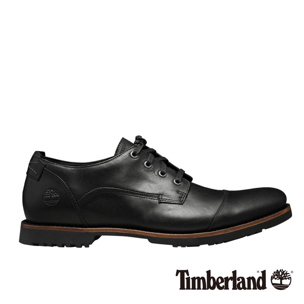 Timberland 男款黑色粒面Kendrick淺口鞋
