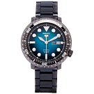 SEIKO 五號機芯機械錶款手錶(SRPC65K1)-藍綠面/45mm