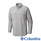 Columbia哥倫比亞 男款-防曬50防潑長袖襯衫-灰色 UFM70460GY