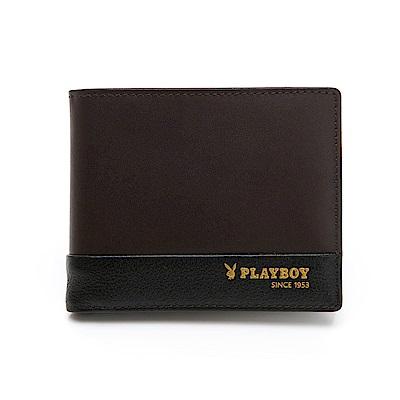 PLAYBOY- 基本短夾  Formula 6.8系列 -咖啡色