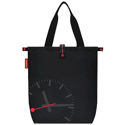 [時時樂限定] MONDAINE 瑞士國鐵鐘摺疊肩背包-黑