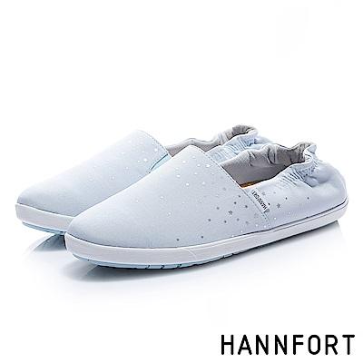 HANNFORT CALIFORNIA閃耀點點鬆緊輕量棉布鞋-女-嬰兒藍