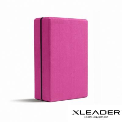 Leader X 環保EVA高密度防滑 加硬加重瑜珈磚 桃紅-急