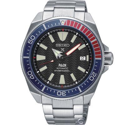 SEIKO 精工 PROSPEX 潛水機械錶(SRPB99J1)藍x紅/43mm