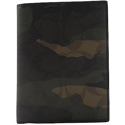 COACH 迷彩塗鴉PVC簡約護照夾(綠)
