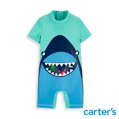 【carter's】 微笑鯊質感連身泳衣 (12M-24M) 任選 (台灣總代理)