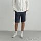 GIORDANO 男裝純棉抽繩休閒短褲 - 98 標誌海軍藍白 product thumbnail 1