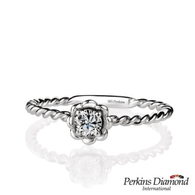 PERKINS 伯金仕 - Venus系列 14K金 0.15克拉鑽石戒指
