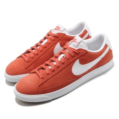 Nike 休閒鞋 Blazer Low Suede 男鞋 基本款 簡約 麂皮 質感 球鞋 穿搭 橘紅 白 CZ4703800