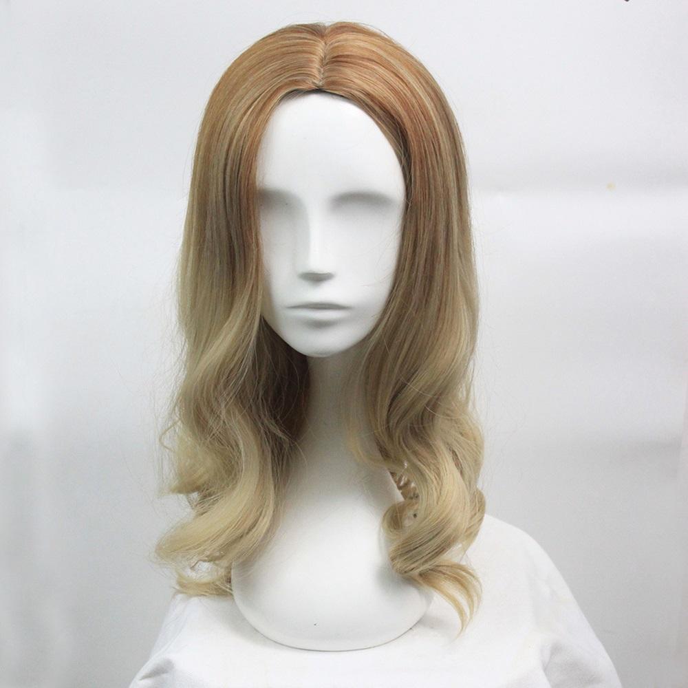 米蘭精品 長假髮整頂假髮-中分挑染大波浪長捲髮女假髮73rr31