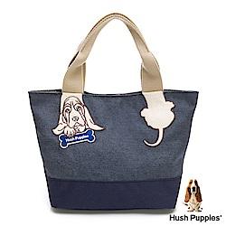 Hush Puppies 巴吉度特別版小提袋-灰藍