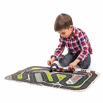 Tender Leaf Toys木製家家酒玩具-極速賽車遊戲場景墊含小汽車玩具
