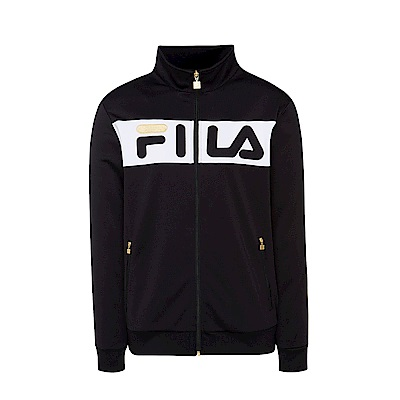 FILA男吸濕排汗外套-黑 1JKS-5410-BK