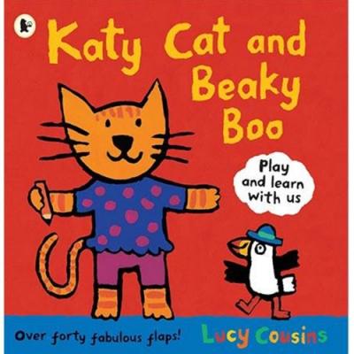 Katy Cat And Beaky Boo Katy貓和大嘴鳥Boo平裝繪本