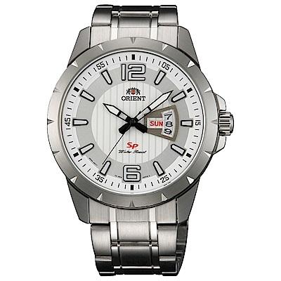 ORIENT  紳士魅力石英腕錶(FUG1X005W9)-白面x40mm