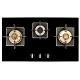(下單登記送3300)【義大利貝斯特best】精密銅爐頭黑玻三口高效能瓦斯爐GH862-GS product thumbnail 1