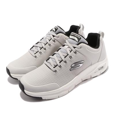 Skechers 休閒鞋 Arch Fit-Titan 運動 男鞋 專利鞋墊 避震 緩衝 回彈 支撐 舒適 灰 黑 232200LGBK