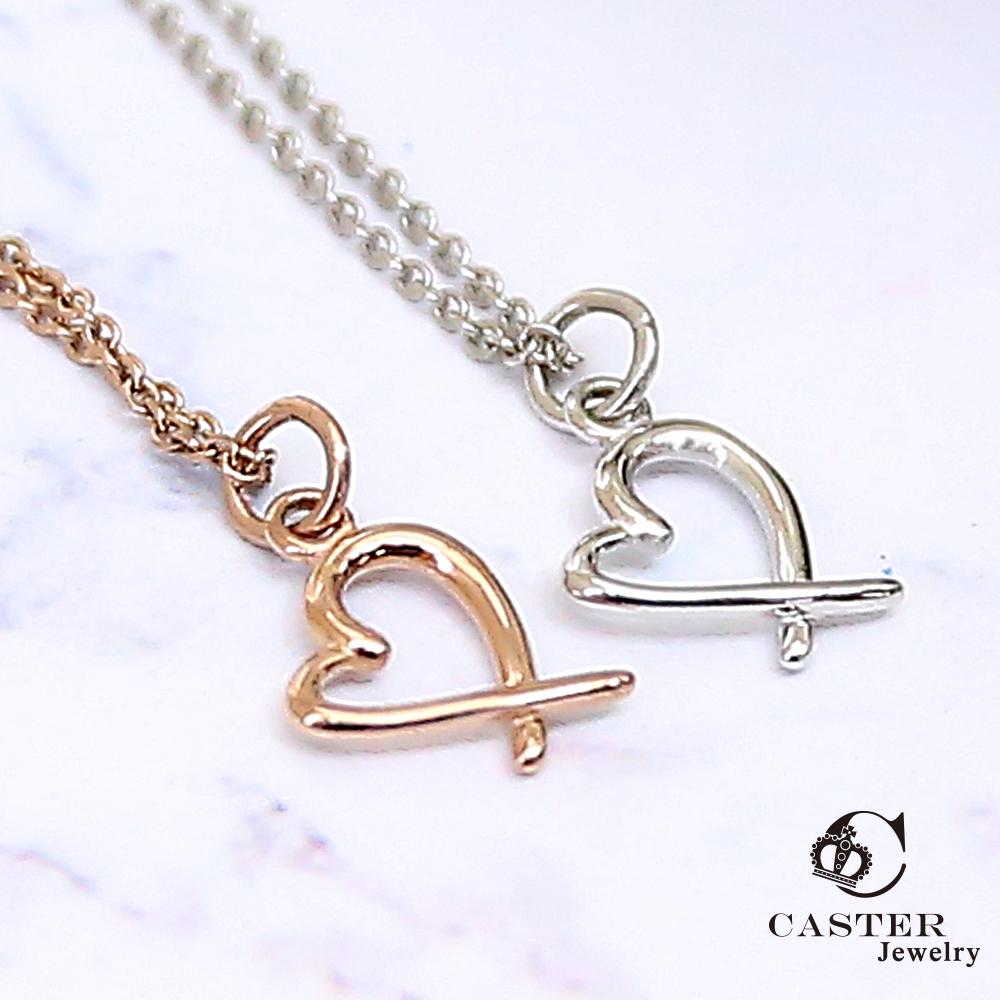 日本 凱斯特 CASTER 妳永遠在我心裡 玫瑰金項鍊 防抗過敏 SUS316L頂級不鏽鋼