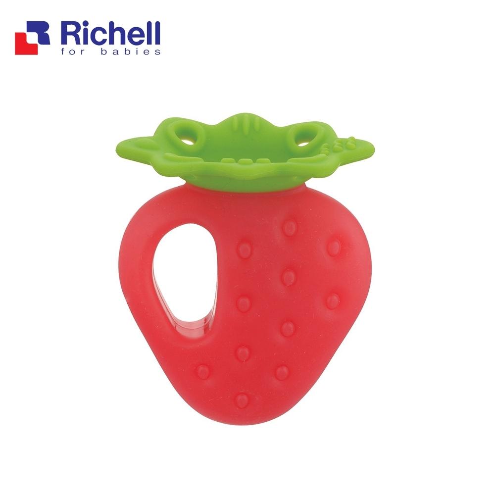 Richell 利其爾 寶寶咬咬系列固齒器 - 草莓 (附盒)
