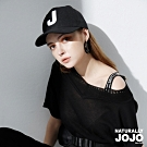 【NATURALLY JOJO】原創J刺繡棒球帽 (黑/白2色)