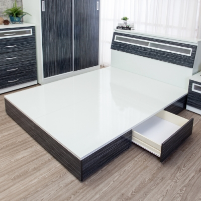 Birdie南亞塑鋼-3.5尺單人一抽屜收納塑鋼床底(不含床頭箱)(鐵刀木色)