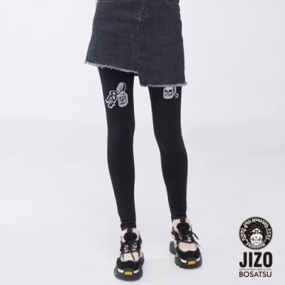 地藏小王 BLUE WAY – 女地藏貼布繡貼腿褲(黑)
