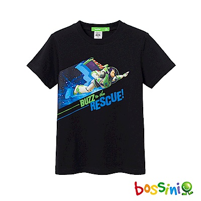 bossini男童-玩具總動員印花T恤-巴斯光年01黑