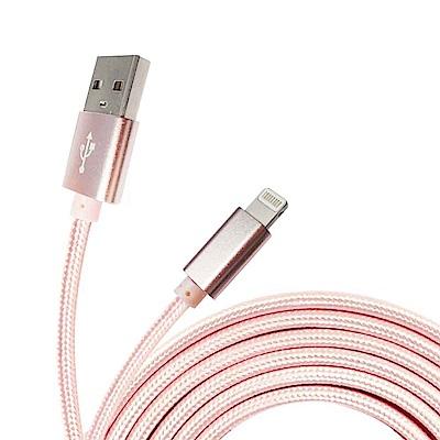 (一入)iPhone Xs Max X XR 8+/iPad 新升級亮澤編織 傳輸充電線